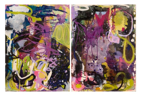 r a c h e l  v o l p o n e Works on Paper Acrylic, Spray Paint, Ink on Paper
