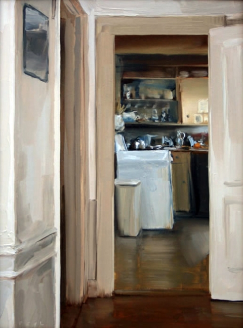 Paintings Island Kitchen