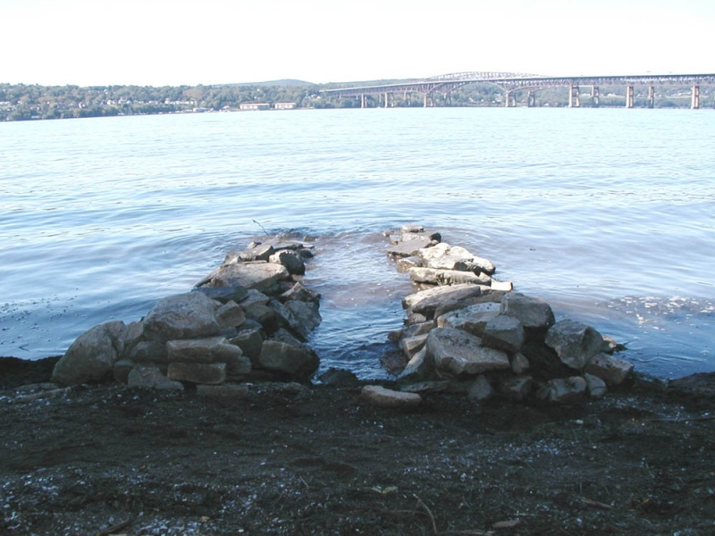 Stone sculpture installations 2000s Emergences, Riverfront Park, Beacon, NY
