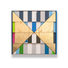 Rob Calvert Sculpture wood shingles, house paint and metal leaf