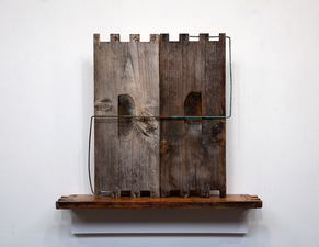 Rob Calvert Assemblages wood and metal