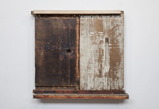 Rob Calvert Assemblages wood, paint and propolis