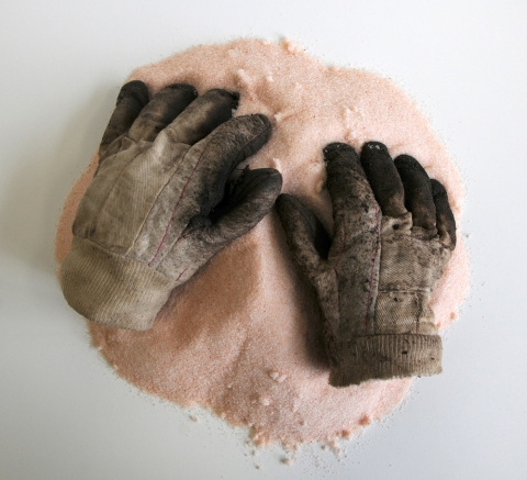 Renee Couture Sanctuary: an Echo of Frustration (2010) 3,800+ pinches Bolivian salt, old work gloves