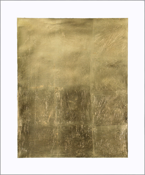 Renee Couture I Am a Country Made of Changing Places gold leaf on paper