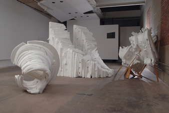 Rebecca Ripple work  foam, wood