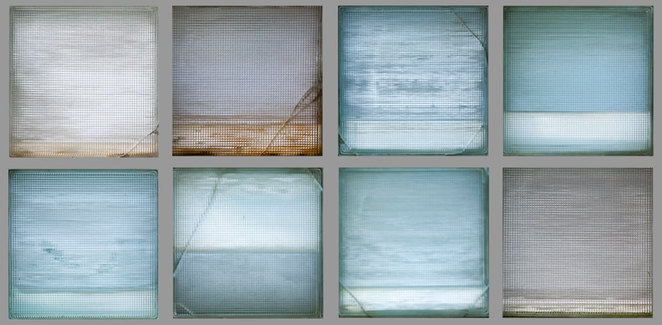 Regan Stacey Seascapes photographs on metallic paper, framed in steel