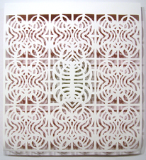 Reni Gower Papercuts Acrylic on hand cut paper