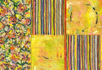Reni Gower Paintings Encaustic / Collage on panel