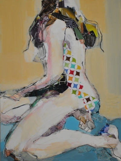 revi meicler Strike a Pose _ Mixed Media mixed media on board