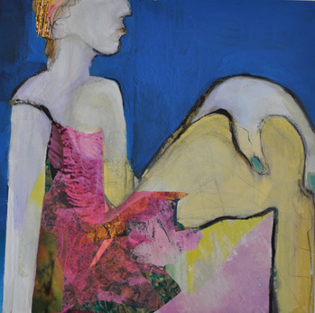 revi meicler Strike a Pose _ Mixed Media mixed media on panel