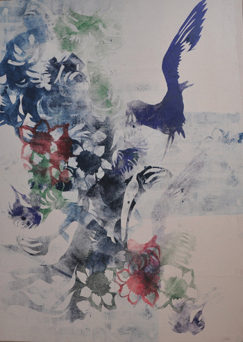 revi meicler Natural Order _ Paintings and Monotypes monotype on canvas