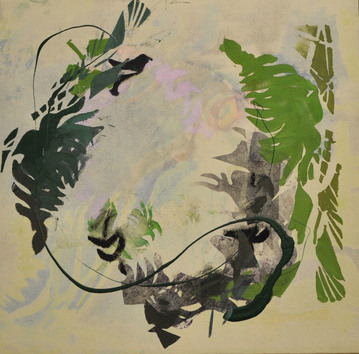 revi meicler Natural Order _ Paintings and Monotypes Monotype and Acrylic on canvas
