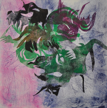 revi meicler Work on Paper monotype