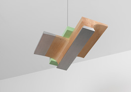 Richard Rezac Recent Work 2011 - Aluminum, maple wood and painted poplar wood