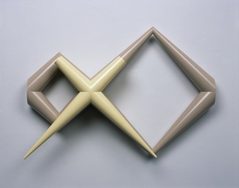 Richard Rezac Sculpture 1997-2003 Painted maple wood and steel