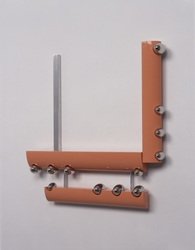 Richard Rezac Sculpture 1997-2003 Painted wood, aluminum, and nickel plated bronze