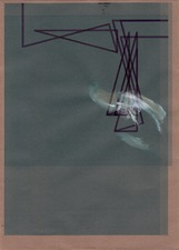 RICHARD CALDICOTT Envelope Drawings 2013 Ballpoint pen, acrylic and inkjet on paper envelope