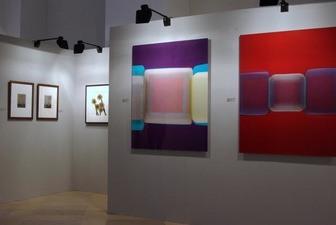 RICHARD CALDICOTT Modern Fair, Munich, Galerie f5,6 + Goss Gallery 2007