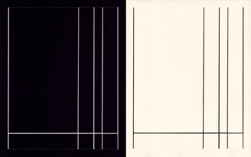 RICHARD CALDICOTT 2014 Photogram and black paper negative