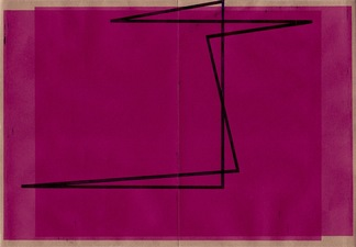 RICHARD CALDICOTT Envelope Drawings 2013 Ballpoint pen and inkjet on paper envelope