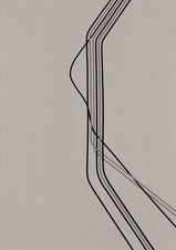 RICHARD CALDICOTT Tape Drawings 2011 Tape on paper