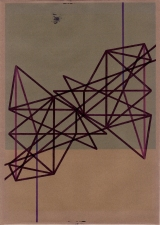 RICHARD CALDICOTT Envelope Drawings 2012 Ballpoint pen and inkjet on paper envelope