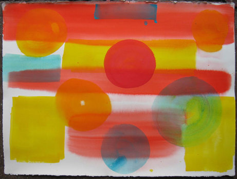 RICHARD TIMPERIO 2011 works on paper Acrylic on Arches water color paper