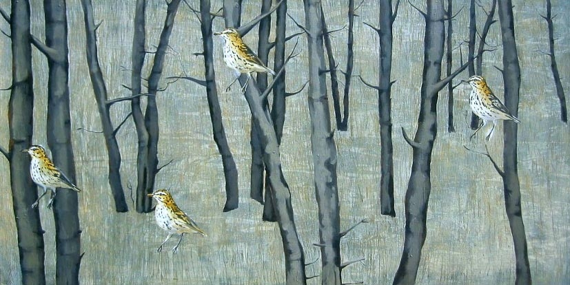 paintings pipit in the woods