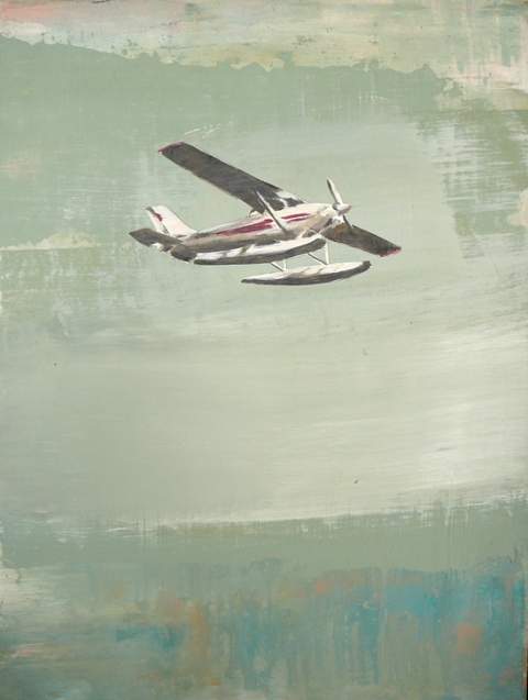 paintings small plane