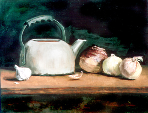 RACHEL MINDRUP Still Lifes Oil on hardboard