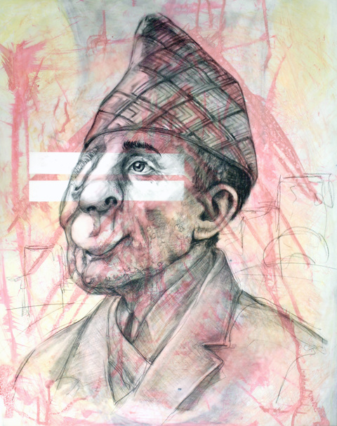 RACHEL MINDRUP Ashok Shrestha's Transformation Charcoal and Ink
