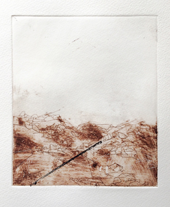 Robbie Sugg Works on Paper Intaglio monoprint