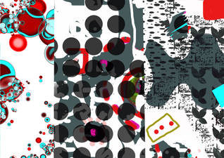ROBERTA NIGRO HALL NEW WORK - Abstract /  Digital Digital, Pigmented Ink on Archival Paper