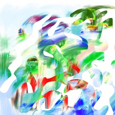 ROBERTA NIGRO HALL NEW WORK - Abstract /  Digital Pigmented Ink on Paper