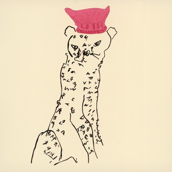 Roberta Paul Pink Hat Cat colored pencil/goauche on panel