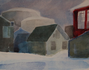 Robert Dorlac Herhusid Artist Residency watercolor