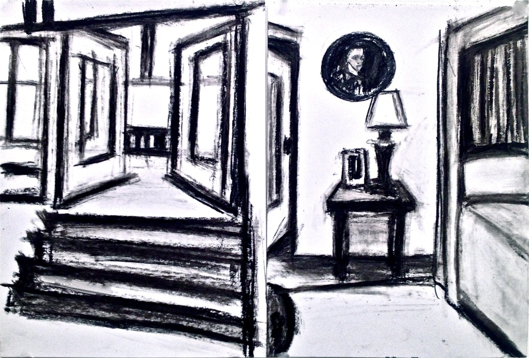 Robert G. Edelman        Art Consultant/Writer/Independent Curator     Interiors  oilstick, graphite, charcoal on paper