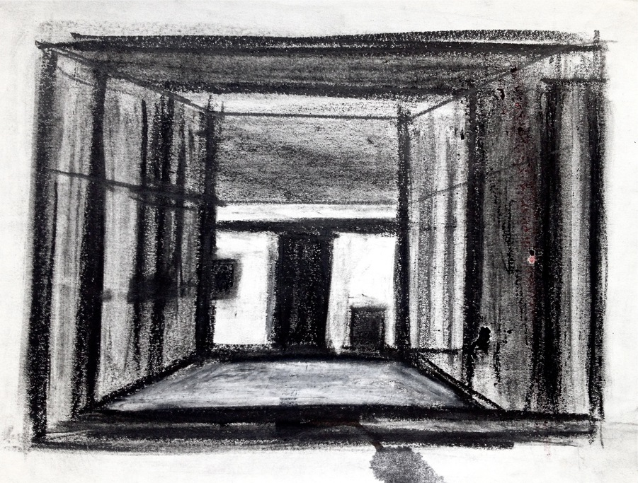 Robert G. Edelman        Art Consultant/Writer/Independent Curator     Interiors  pencil and charcoal on paper