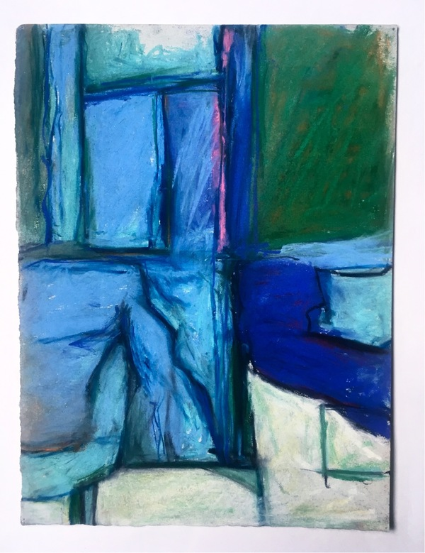 Robert G. Edelman        Art Consultant/Writer/Independent Curator     Interiors  Pastel, colored pencil, charcoal on paper