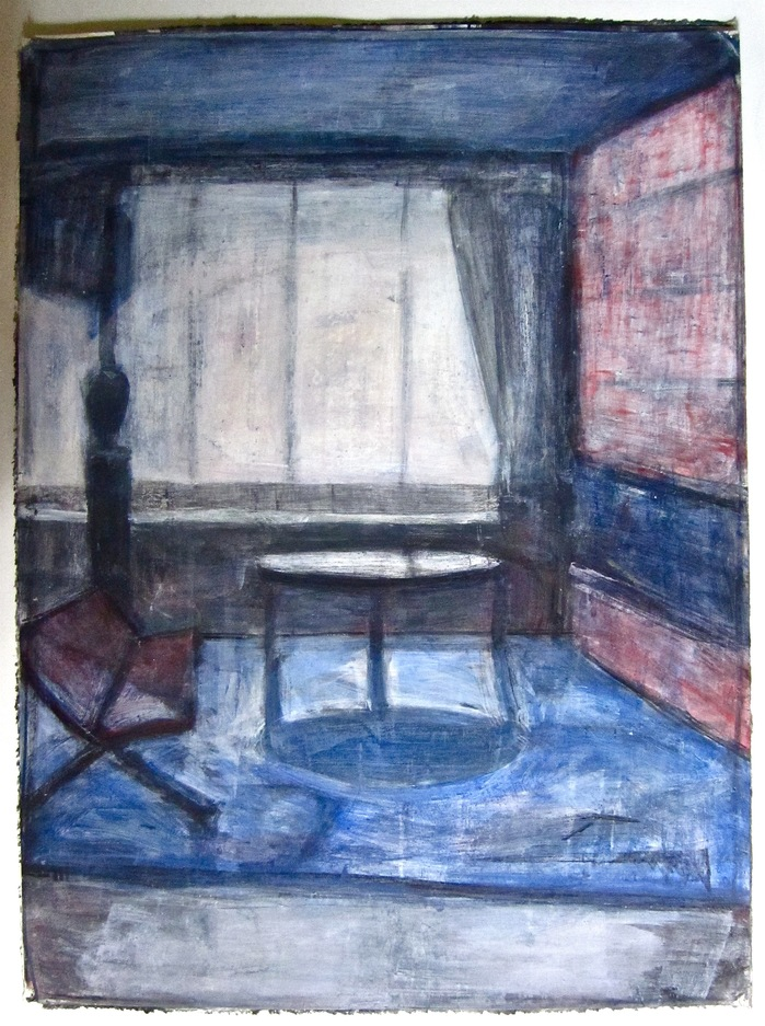 Robert G. Edelman        Art Consultant/Writer/Independent Curator     Interiors 90's Acrylic, graphite on paper
