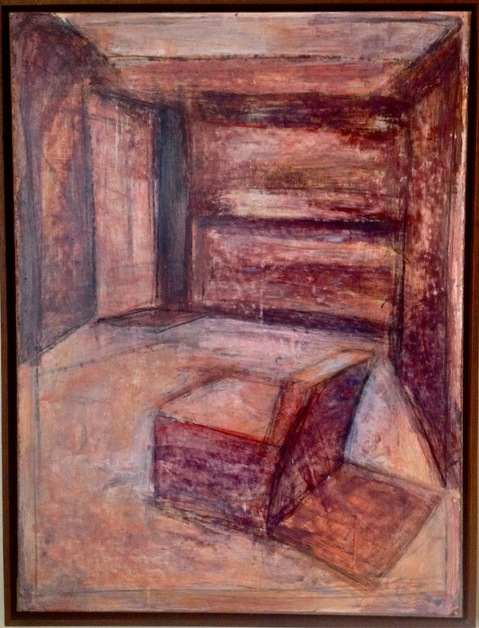 Robert G. Edelman        Art Consultant/Writer/Independent Curator     Interiors 90's Acrylic on paper, mounted on linen (framed)