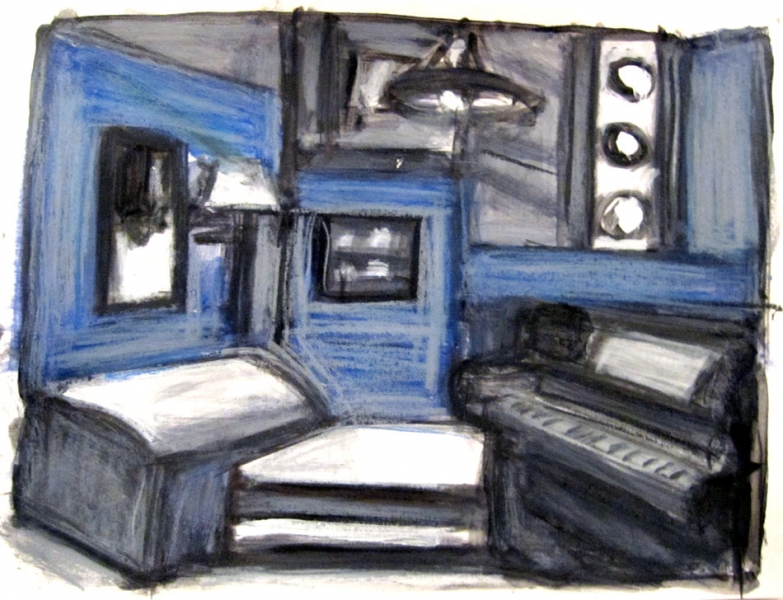 Robert G. Edelman        Art Consultant/Writer/Independent Curator     Interiors  acrylic, graphite and pastel on paper