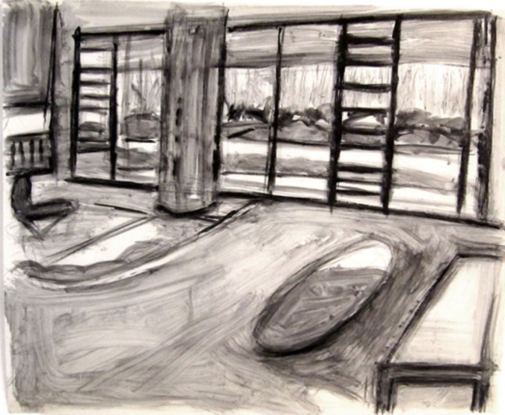 Robert G. Edelman        Art Consultant/Writer/Independent Curator     Interiors  ink on tracing paper
