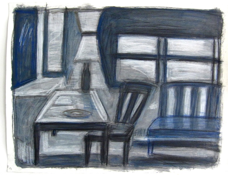 Robert G. Edelman        Art Consultant/Writer/Independent Curator     Interiors  Acrylic, oil pastel and graphite on paper