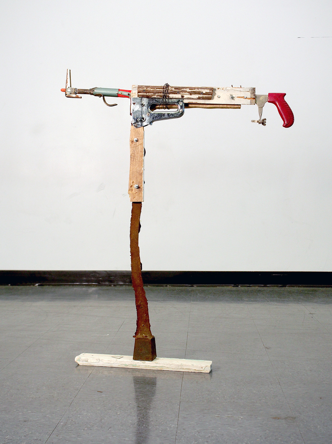 sculpture gun poetry
