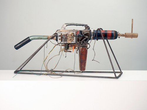sculpture automatic weapon