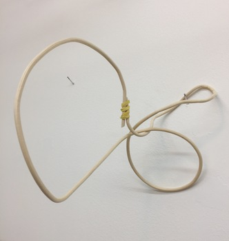 ROBERT SCHATZ Objects Reed and yellow twist tie.