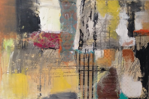 Robin S Halpern  WORKS ON CANVAS mixed media on canvas