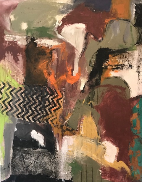Robin S Halpern  CURRENT 2018 SOLO SHOW @ Longyear Gallery mixed media on canvas