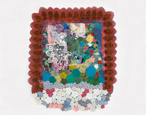 Robin M Jordan Embroideries fabric, thread, plastic